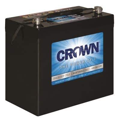 BATTERIE AGM 12 VOLTS A DÉCHARGE PROFONDE CROWN  100 A/H