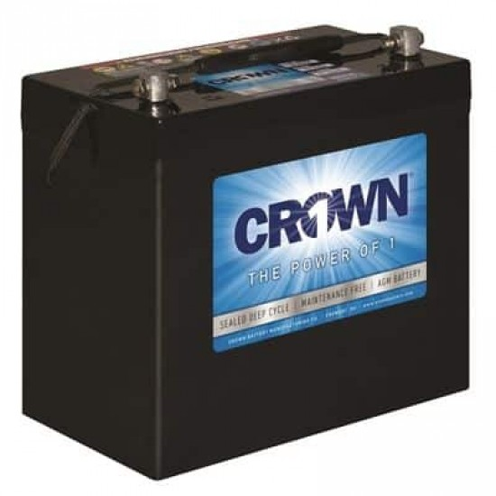 BATTERIE AGM 12 VOLTS A DÉCHARGE PROFONDE CROWN  110 A/H