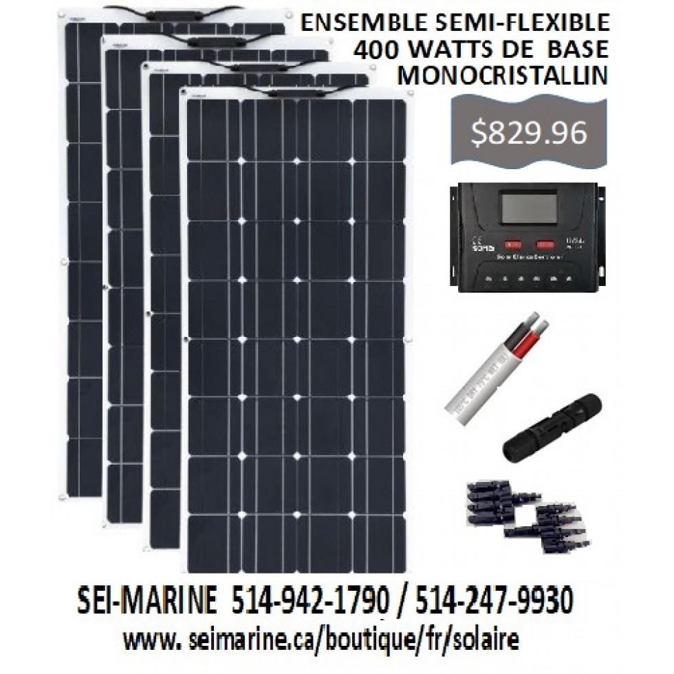 400 WATTS SEMI-FLEXIBLE MONOCRISTALLIN BASIC SOLAR KIT